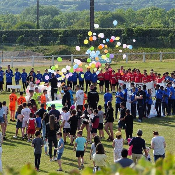 Equipe du centre de Primelin à la cérémonie de clôture